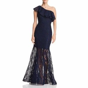 AVERY G Lace One Shoulder Evening Dress